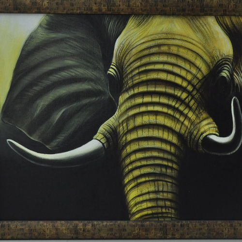 the mammoth, 30 x 24 inch, dls  art gallery,wildlife paintings,elephant paintings,paintings for living room,paintings for bedroom,paintings for office,paintings for kids room,paintings for hotel,paintings for school,animal paintings,canvas,acrylic color,oil,30x24inch,GAL0692615645,elephant,tusks,mammal
