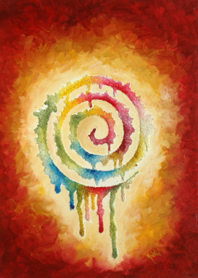 colours of life, 2 x 2 inch, rajni verma,modern art paintings,paintings for living room,canvas,mixed media,2x2inch,GAL06261565