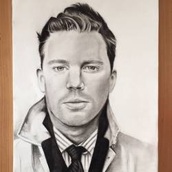 channing tatum , 12 x 17 inch, lovepreet gill,drawings,paintings for dining room,paintings for living room,paintings for bedroom,photorealism drawings,portrait drawings,realism drawings,paintings for dining room,paintings for living room,paintings for bedroom,thick paper,charcoal,graphite pencil,12x17inch,GAL0233315661