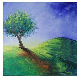 natute , 12 x 12 inch, ram prathap,paintings,nature paintings,paintings for living room,paintings for bedroom,paintings for office,paintings for hotel,canvas,acrylic color,12x12inch,GAL0596915671Nature,environment,Beauty,scenery,greenery,tree,mountain