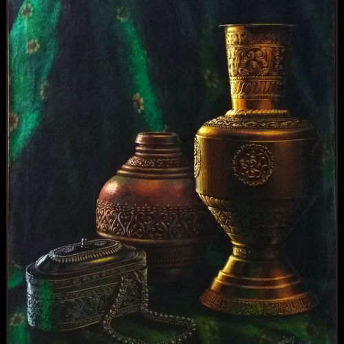 handicraft, 13 x 18 inch, sanjay  sarfare ,paintings,still life paintings,realistic paintings,paintings for dining room,paintings for living room,paintings for bedroom,paintings for office,paintings for kids room,paintings for hotel,paintings for school,handmade paper,poster color,13x18inch,GAL0160715678