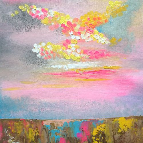 pink dreamland, 13 x 17 inch, amita dand,paintings,abstract paintings,nature paintings,paintings for dining room,paintings for living room,paintings for bedroom,paintings for office,paintings for bathroom,paintings for hotel,paintings for hospital,canvas,acrylic color,13x17inch,GAL0146715685Nature,environment,Beauty,scenery,greenery