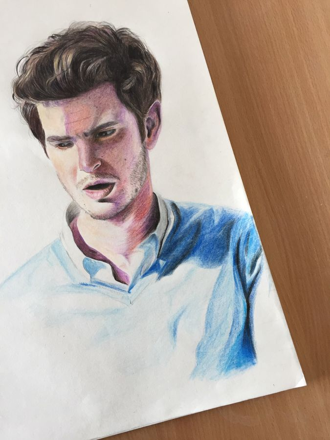 andrew garfield , 12 x 17 inch, lovepreet gill,drawings,paintings for living room,paintings for bedroom,fine art drawings,photorealism drawings,paintings for living room,paintings for bedroom,thick paper,pencil color,12x17inch,GAL0233315695