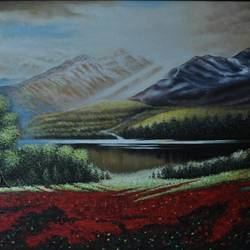 indian valley, 48 x 36 inch, dls  art gallery,paintings,landscape paintings,nature paintings,paintings for dining room,paintings for living room,paintings for bedroom,paintings for office,paintings for hotel,paintings for school,paintings for hospital,canvas,acrylic color,48x36inch,GAL0692615722Nature,environment,Beauty,scenery,greenery