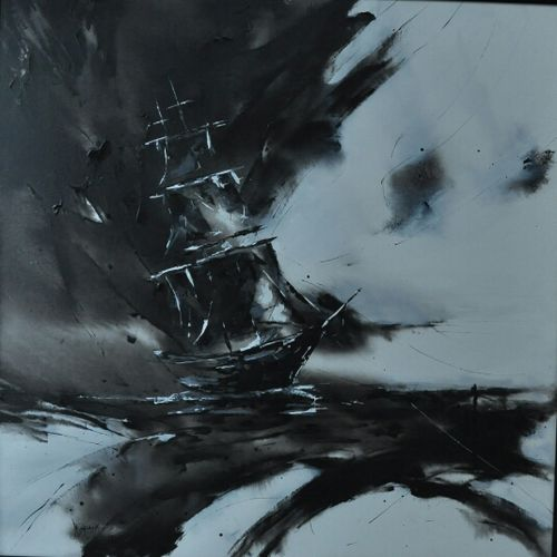sailing ship, 48 x 48 inch, dls  art gallery,paintings,abstract paintings,figurative paintings,conceptual paintings,portrait paintings,paintings for dining room,paintings for living room,paintings for bedroom,paintings for office,paintings for bathroom,paintings for kids room,paintings for hotel,paintings for hospital,canvas,acrylic color,48x48inch,GAL0692615736