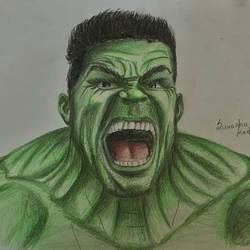 the angry hulk, 11 x 8 inch, suvarna kartik shashidhara,drawings,paintings for dining room,paintings for living room,paintings for bedroom,paintings for office,paintings for bathroom,paintings for hotel,abstract expressionist drawings,expressionist drawings,modern drawings,photorealism drawings,portrait drawings,realism drawings,paintings for dining room,paintings for living room,paintings for bedroom,paintings for office,paintings for bathroom,paintings for hotel,paper,charcoal,pencil color,11x8inch,GAL0701015740