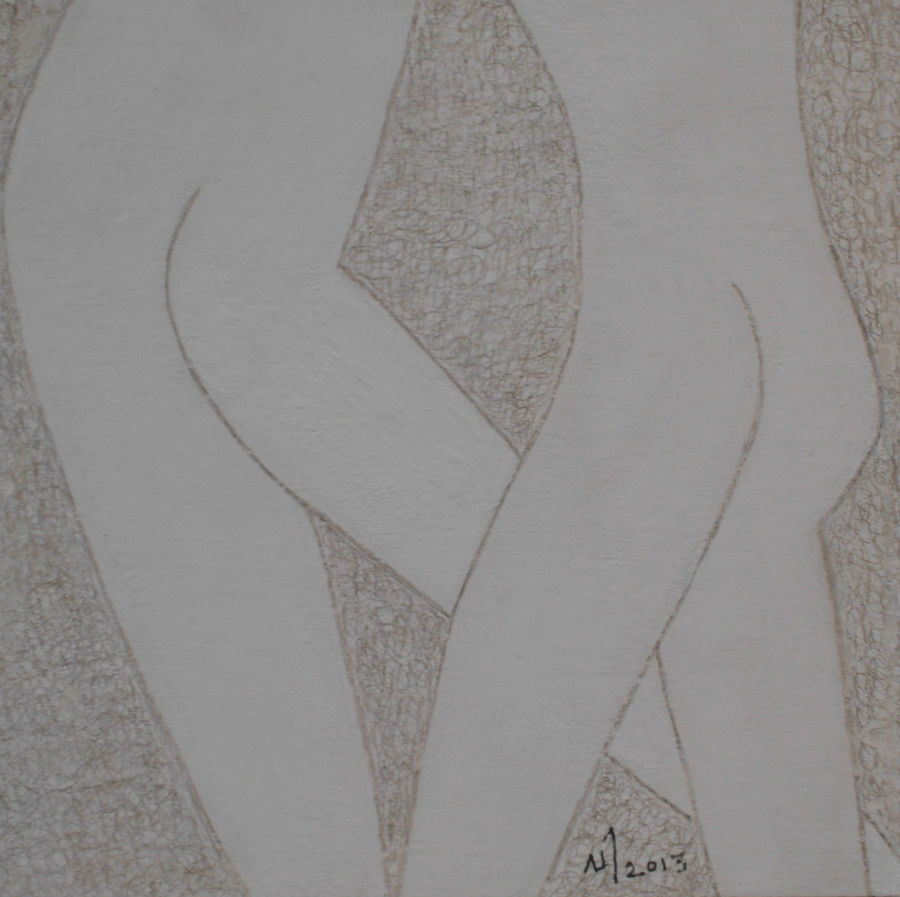 no. 399, 6 x 6 inch, vijayan kannampilly ,figurative drawings,paintings for bedroom,thick paper,pencil color,6x6inch,GAL05991576