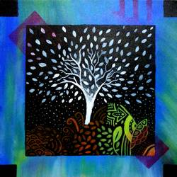 the tree, 15 x 15 inch, ayush  sengupta,paintings,abstract paintings,canvas,acrylic color,15x15inch,GAL0591115762