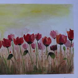 the red tulips, 14 x 11 inch, soma pradhan,paintings,flower paintings,paintings for dining room,paintings for living room,paintings for bedroom,paintings for office,paintings for bathroom,paintings for kids room,paintings for hotel,paintings for kitchen,paintings for school,paintings for hospital,paintings for dining room,paintings for living room,paintings for bedroom,paintings for office,paintings for bathroom,paintings for kids room,paintings for hotel,paintings for kitchen,paintings for school,paintings for hospital,brustro watercolor paper,watercolor,14x11inch,GAL064515784