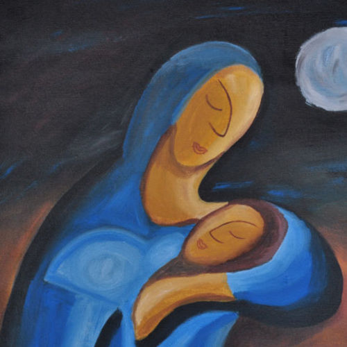 mother and child, 17 x 17 inch, smita   asole,paintings,love paintings,baby paintings,paintings for bedroom,paintings for bedroom,canvas,acrylic color,17x17inch,GAL0691215797heart,family,caring,happiness,forever,happy,trust,passion,romance,sweet,kiss,love,hugs,warm,fun,kisses,joy,friendship,marriage,chocolate,husband,wife,forever,caring,couple,sweetheart