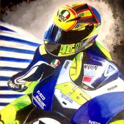 valentino rossi, 20 x 24 inch, amrita das,modern art paintings,paintings for bedroom,canvas,acrylic color,20x24inch,GAL050158