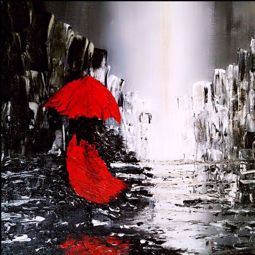 i'm not afraid of storm , 48 x 36 inch, sunita  singh,abstract paintings,paintings for living room,paintings for living room,paintings,canvas,acrylic color,48x36inch,GAL0644015801