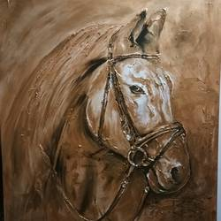 copper metallic horse, 36 x 48 inch, rajkumar  anandan ,portraiture,animal paintings,horse paintings,paintings for dining room,paintings for living room,paintings for bedroom,paintings for office,paintings for bathroom,paintings for kids room,paintings for hotel,paintings for school,paintings for hospital,canvas,acrylic color,36x48inch,GAL0688615805