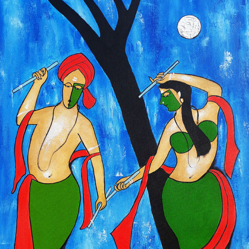 couple, 23 x 35 inch, chetan katigar,figurative paintings,modern art paintings,religious paintings,portrait paintings,radha krishna paintings,love paintings,paintings for living room,paintings for bedroom,paintings for office,paintings for hotel,paintings for kitchen,paintings for hospital,paintings for dining room,canvas,acrylic color,23x35inch,radha,lord krishna,flute,night,music,dance,moonlight,love,couple,romance,GAL026615822heart,family,caring,happiness,forever,happy,trust,passion,romance,sweet,kiss,love,hugs,warm,fun,kisses,joy,friendship,marriage,chocolate,husband,wife,forever,caring,couple,sweetheart,krishna,Lord krishna,krushna,radha krushna,flute,peacock feather,melody,peace,religious,god,love,moon