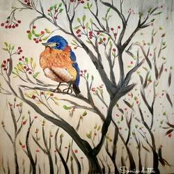 nature on canvas, 11 x 13 inch, sonia dutta,paintings,wildlife paintings,thick paper,poster color,11x13inch,GAL0705515826