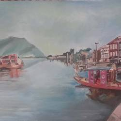 kashmir, 30 x 18 inch, amit kumar sinha,paintings,landscape paintings,paintings for dining room,paintings for living room,paintings for bedroom,paintings for office,paintings for hotel,paintings for dining room,paintings for living room,paintings for bedroom,paintings for office,paintings for hotel,canvas,oil,30x18inch,GAL0691315827