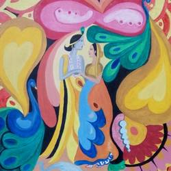 radha krishna art, 36 x 24 inch, swapnil  asthana ,radha krishna paintings,contemporary paintings,paintings for living room,paintings for living room,canvas,oil,36x24inch,GAL0704615834,radhakrishna,love,pece,lordkrishna,,lordradha,peace,flute,music,radha,krishna,devotion,couple