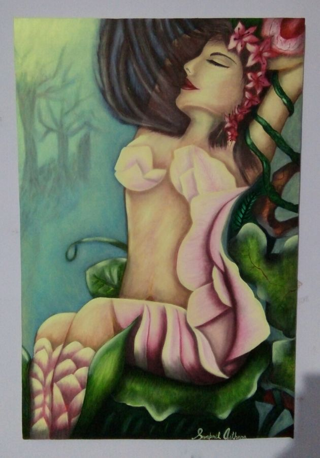 beauty undefined, 18 x 30 inch, swapnil  asthana ,paintings,figurative paintings,portrait paintings,paintings for bedroom,canvas,oil,18x30inch,GAL0704615835
