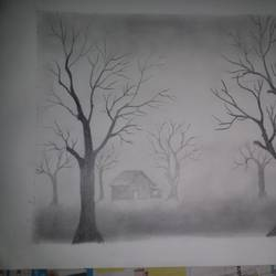 pencile shading, 12 x 16 inch, bhavika salunke,paintings,nature paintings,paper,graphite pencil,12x16inch,GAL0706915869Nature,environment,Beauty,scenery,greenery