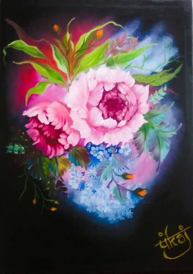 rose of romance, 18 x 24 inch, pankaj tunwal,flower paintings,paintings for living room,love paintings,canvas,oil,18x24inch,GAL04331587heart,family,caring,happiness,forever,happy,trust,passion,romance,sweet,kiss,love,hugs,warm,fun,kisses,joy,friendship,marriage,chocolate,husband,wife,forever,caring,couple,sweetheart