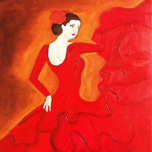 flamenco dancer, 12 x 17 inch, sahya sajith,paintings,figurative paintings,paintings for living room,thick paper,oil,12x17inch,GAL0698015877