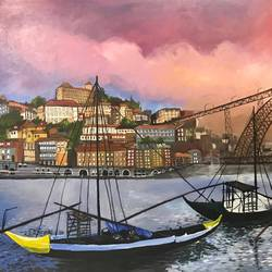 three boats, 54 x 36 inch, pickie arts,paintings,cityscape paintings,landscape paintings,realistic paintings,paintings for dining room,paintings for living room,paintings for bedroom,paintings for office,paintings for hotel,paintings for dining room,paintings for living room,paintings for bedroom,paintings for office,paintings for hotel,canvas,acrylic color,54x36inch,GAL0708815898
