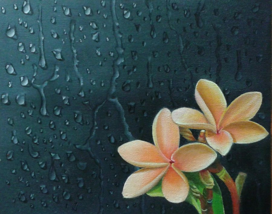 togetherness, 10 x 8 inch, rashmi  kumar,nature paintings,paintings for living room,canvas,oil,10x8inch,GAL0709715899Nature,environment,Beauty,scenery,greenery,flower,together