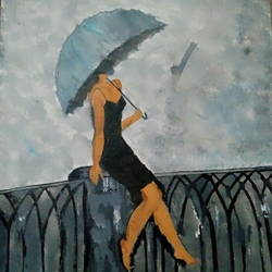 girl alone.., 40 x 30 inch, anju rani,paintings,art deco paintings,paintings for living room,paintings for bedroom,paintings for living room,paintings for bedroom,canvas,acrylic color,40x30inch,GAL0709915903