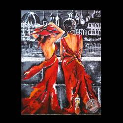 flaunt in style, 20 x 24 inch, sampada patel,paintings,figurative paintings,paintings for living room,canvas,acrylic color,20x24inch,GAL0712315931