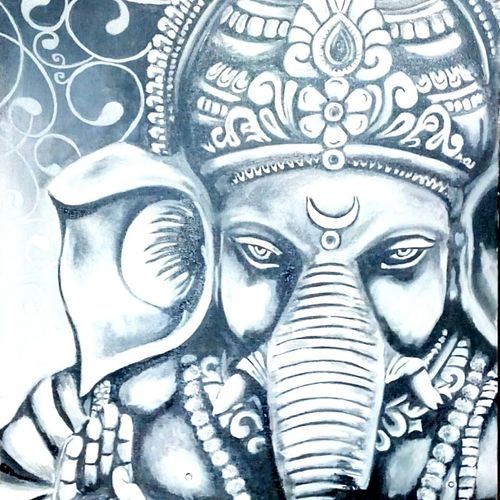 ganesha monochrome, 16 x 20 inch, archna  singh,paintings,ganesha paintings,paintings for dining room,paintings for living room,paintings for bedroom,paintings for hotel,paintings for school,paintings for hospital,paintings for dining room,paintings for living room,paintings for bedroom,paintings for hotel,paintings for school,paintings for hospital,canvas,oil,16x20inch,GAL0271115956,vinayak,ekadanta,ganpati,lambodar,peace,devotion,religious,lord ganesha,lordganpati,ganpati,ganesha,lord ganesh,elephant god,religious,ganpati bappa morya,mouse,mushakraj,ladoo,sweets,ganpati bappa morya,ganesh chaturthi,ganesh murti,elephant god,religious,lord ganesh,ganesha,om,hindu god,shiv parvati, putra,bhakti,blessings,aashirwad,pooja,puja,aarti,ekdant,vakratunda,lambodara,bhalchandra,gajanan,vinayak,prathamesh,vignesh,heramba,siddhivinayak,mahaganpati,omkar,mushak,mouse,ladoo,modak
