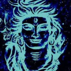 shiva , shiva wall art, glow in dark, 12 x 16 inch, sneha  mehta,religious paintings,paintings for dining room,paintings for living room,paintings for office,paintings for kids room,paintings for kitchen,paintings for dining room,paintings for living room,paintings for office,paintings for kids room,paintings for kitchen,lord shiva paintings,canvas,photo ink,12x16inch,GAL0715115960