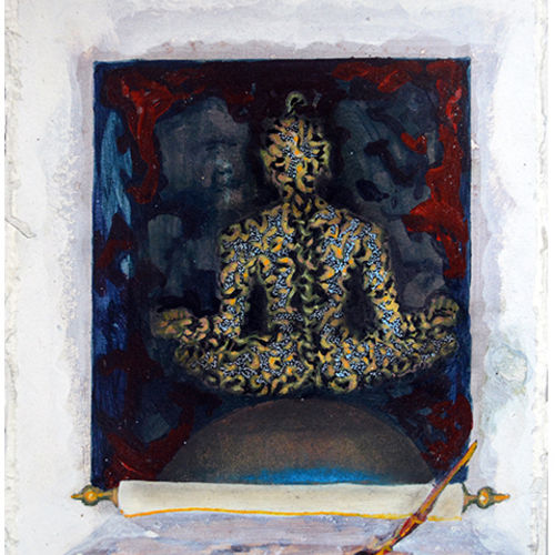 illusion 3 , 12 x 15 inch, mukesh  tongaria,conceptual paintings,paintings for office,thick paper,mixed media,12x15inch,GAL01421598