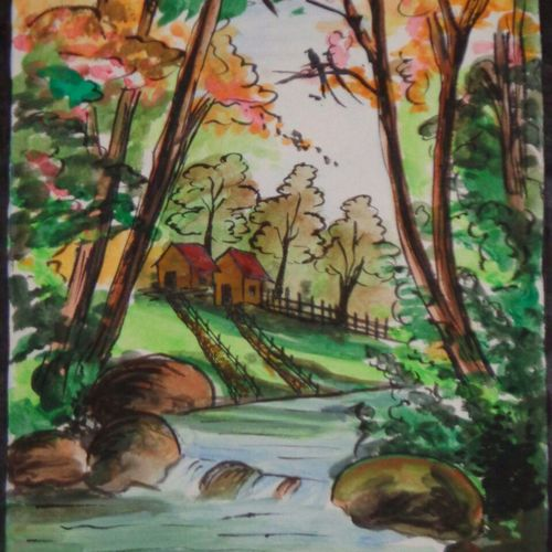 nature, 9 x 10 inch, chaitra k.r,paintings,flower paintings,landscape paintings,paintings for dining room,paintings for living room,paintings for bedroom,paintings for office,paintings for bathroom,paintings for kids room,paintings for kitchen,paintings for school,paintings for hospital,paintings for dining room,paintings for living room,paintings for bedroom,paintings for office,paintings for bathroom,paintings for kids room,paintings for kitchen,paintings for school,paintings for hospital,drawing paper,watercolor,ball point pen,9x10inch,GAL0707815992