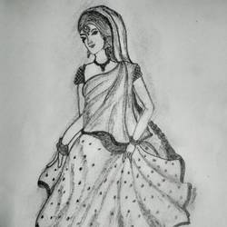 beauty of women, 11 x 8 inch, sandhya yadav,drawings,paintings for school,folk drawings,kids drawings,paintings for school,paper,pencil color,11x8inch,GAL0716015996