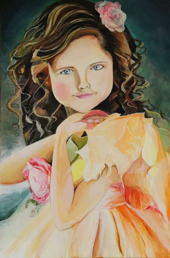 innocence, 24 x 24 inch, amrita das,portrait paintings,paintings for bedroom,canvas,acrylic color,24x24inch,GAL050160