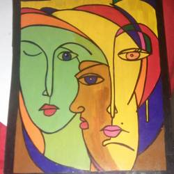modern faces of human, 11 x 14 inch, manjot sokhey,paintings,paintings for living room,paintings for living room,abstract paintings,thick paper,poster color,acrylic color,11x14inch,GAL0716616000