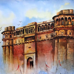 baranasi 1, 16 x 12 inch, sumit  datta,paintings,realistic paintings,thick paper,watercolor,16x12inch,GAL0253016008