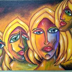 the expression, 15 x 22 inch, hetal upadhyay,paintings,modern art paintings,paintings for living room,paintings for office,paintings for hotel,paintings for hospital,canvas board,acrylic color,15x22inch,GAL0696316012