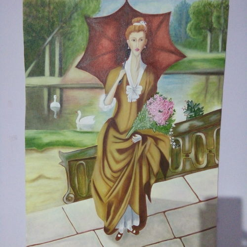 vintage art, 18 x 24 inch, swapnil  asthana ,paintings,figurative paintings,paintings for living room,canvas,oil,18x24inch,GAL0704616038