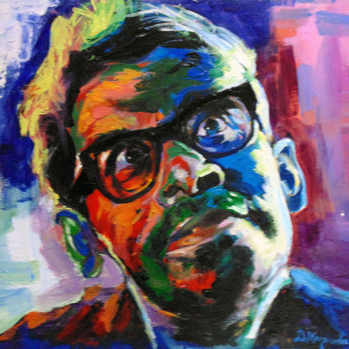 rittick ghatak , 24 x 20 inch, debdas maumder,portrait paintings,paintings for dining room,canvas,acrylic color,24x20inch,GAL06551604