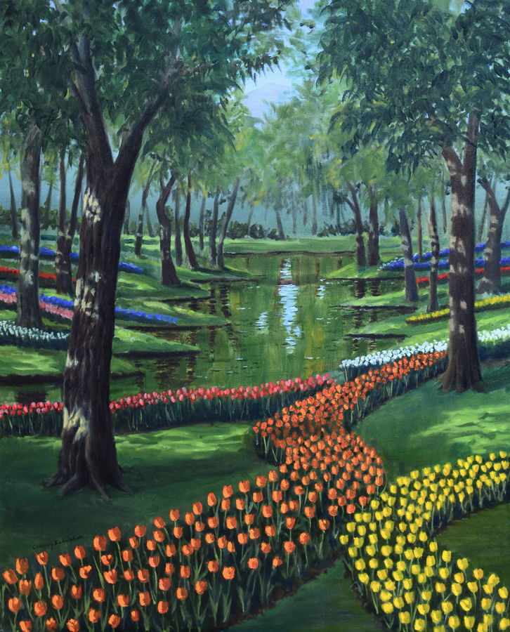 tulip garden, 24 x 30 inch, chinmay bahulekar,paintings,landscape paintings,nature paintings,realistic paintings,paintings for dining room,paintings for living room,paintings for bedroom,paintings for office,paintings for kids room,paintings for hotel,paintings for school,paintings for hospital,paintings for dining room,paintings for living room,paintings for bedroom,paintings for office,paintings for kids room,paintings for hotel,paintings for school,paintings for hospital,canvas,oil,24x30inch,GAL0720416042Nature,environment,Beauty,scenery,greenery,tree,water,flower