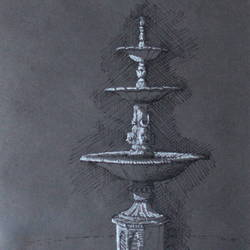 fountain, 6 x 11 inch, chinmay bahulekar,drawings,documentary drawings,fine art drawings,impressionist drawings,paintings for dining room,paintings for living room,paintings for bedroom,paintings for office,paintings for kids room,paintings for hotel,paintings for kitchen,paintings for school,paintings for hospital,paper,pen color,ball point pen,6x11inch,GAL0720416046
