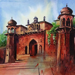 baranasi 2, 16 x 12 inch, sumit  datta,paintings,realistic paintings,thick paper,watercolor,16x12inch,GAL0253016062