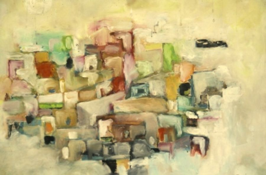 cityscape - 2, 28 x 22 inch, ravi bedi,paintings,cityscape paintings,thick paper,oil,28x22inch,GAL0715716087