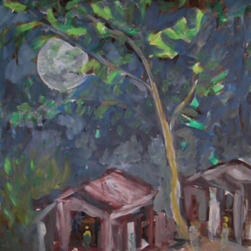 house under tree , 22 x 28 inch, ravi bedi,landscape paintings,modern art paintings,paintings for dining room,paintings for living room,paintings for bedroom,paintings for office,paintings for bathroom,paintings for kids room,paintings for hotel,paintings for kitchen,paintings for school,paintings for hospital,thick paper,oil,22x28inch,GAL0715716100