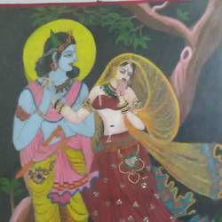 radhe krishna, 40 x 60 inch, shubham  kumar,paintings,radha krishna paintings,paintings for dining room,hardboard,oil,40x60inch,GAL0724216102,radhakrishna,love,pece,lordkrishna,,lordradha,peace,flute,music,radha,krishna,devotion,couple