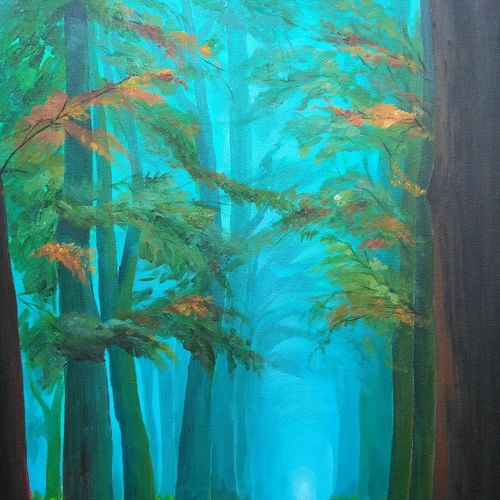 landscape - 5, 18 x 24 inch, a.b.  kaser,paintings,landscape paintings,paintings for dining room,paintings for living room,paintings for bedroom,paintings for office,paintings for hotel,canvas,acrylic color,18x24inch,GAL063616133