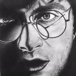 harry potter charcoal artwork , 12 x 16 inch, unnati rana,art deco drawings,conceptual drawings,figurative drawings,illustration drawings,impressionist drawings,photorealism drawings,portrait drawings,realism drawings,kids drawings,paintings for bedroom,paintings for kids room,cartridge paper,charcoal,12x16inch,GAL0727516167