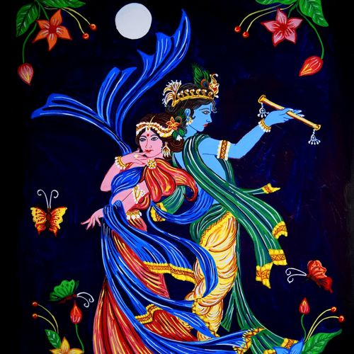 radha-krishna eternal love, 13 x 17 inch, prabir barman,paintings,religious paintings,radha krishna paintings,love paintings,paintings for living room,paintings for bedroom,paintings for hotel,paper,watercolor,13x17inch,radha,lord krishna,music,love,couple,moonlight,dance,togetherness,GAL0625116176heart,family,caring,happiness,forever,happy,trust,passion,romance,sweet,kiss,love,hugs,warm,fun,kisses,joy,friendship,marriage,chocolate,husband,wife,forever,caring,couple,sweetheart
