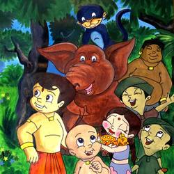 chhota bheem & his friends, 13 x 17 inch, prabir barman,conceptual paintings,children paintings,kids paintings,paintings for dining room,paintings for living room,paintings for bedroom,paintings for kids room,paintings for hotel,paintings for school,paintings for hospital,paintings for dining room,paintings for living room,paintings for bedroom,paintings for kids room,paintings for hotel,paintings for school,paintings for hospital,paper,poster color,watercolor,13x17inch,chota bheem,cartoon,kids,GAL0625116183
